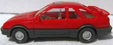 WIKING 12 204 FORD Sierra XR4i '83 rot mit 2 Heckspoilern OVP NOS mint boxed