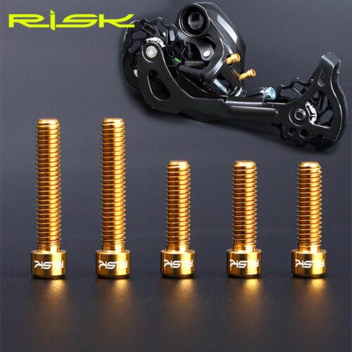 5pcs M4x13.5//20mm Derailleur Bolt for MTB SHIMANO XT SRAM Shift Adjustment Bolts