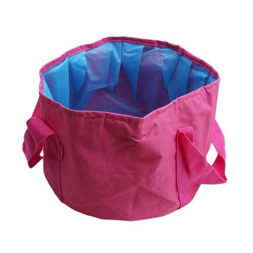 S 1pc Portable Folding Washbasin Bucket Wash Basin Foldable Camping Water Pot