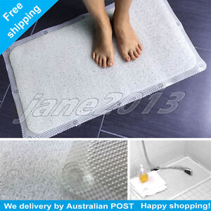 Details About Shower Rug Bathmat Aqua Hydro Anti Slip Drain Away Mat Non