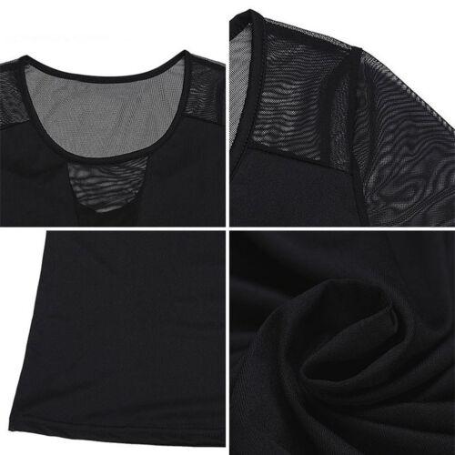 Charm Frauen durchsichtig durchsichtigen Mesh Langarm T Shirt Tops Bluse Sehen