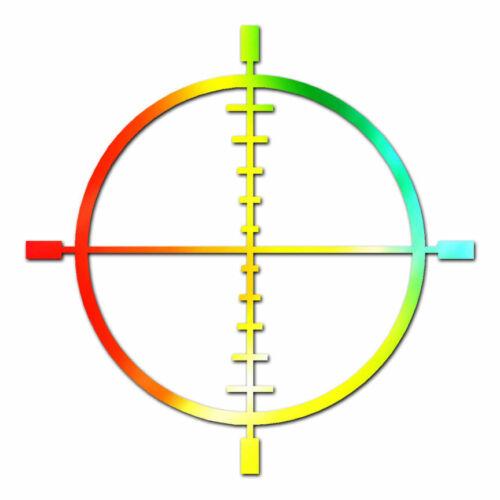 Crosshairs Target ebn185 Multiple Patterns /& Sizes Vinyl Decal Sticker