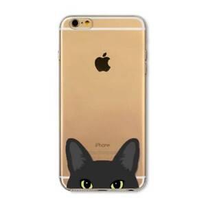 COQUE iPHONE 5 5S SE LE CHAT NOIR SILICONE SOUPLE (TPU)