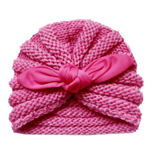Baby Children Woolen Hat Knitted Cap Ear Hats Soft Warm Winter Gift Kids Party