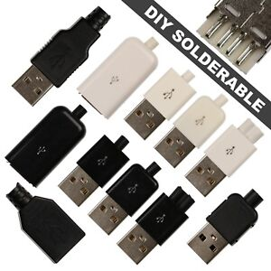 DIY-Solderable-USB-Type-A-Connectors-4-Pin-Male-amp-Female-Connectors-11-Types