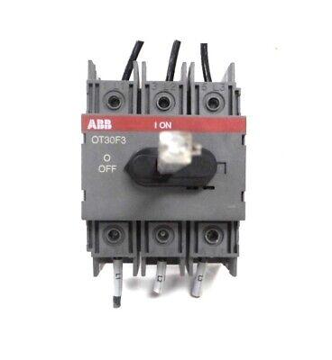 3-Pole 30 Amp ABB OT30F3 Non-Fused Disconnect