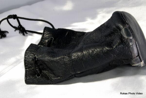 100% Vrai Usé Vintage Objectif Noire Doux Puoch Étui (9110011) 12.7x7.6cm Pauvre Condition