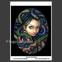*PORTRAIT OF MEDUSA* Fantasy Snake Photo Art Print By Jasmine Becket-Griffith