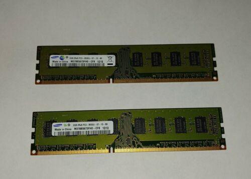 4GB 2PCS 2GB 2RX8 PC3-8500U DDR3 1066MHz DIMM Memory Desktop RAM