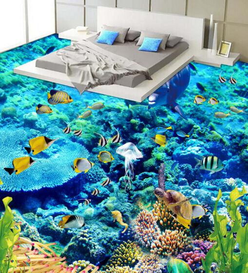 3D Viele schöne Seefisch 12 Fototapeten Wandbild Fototapete BildTapete FamilieDE