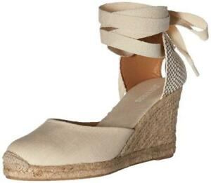 218661a0608 Soludos Womens Tall Lace up Espadrille Wedge Sandals Blush 8.5