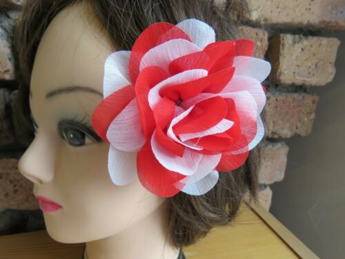 Hair Flowers Fascinator Large Stunning Clip Party Wedding Prom Fancy Dress