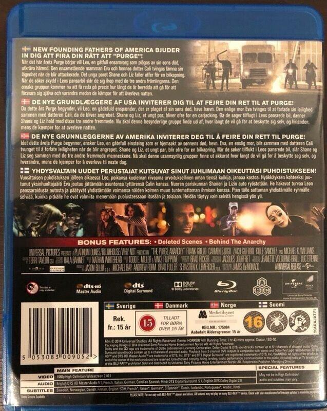 THE PURGE: ANARCHY, Blu-ray, gyser