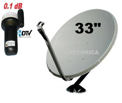 33 QUALITY KU-BAND SATELLITE DISH ANTENNA LINEAR LNB 10750 GALAXY 25 TELE 5 HD