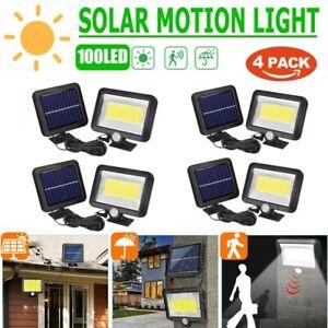 COB 100LED Solarleuchte Solarlampe Solarstrahler mit Bewegungsmelder lampe DHL