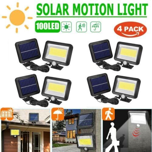 Solarlampe 100LED Solarleuchte Außen Solarstrahler mit Bewegungsmelder Licht DHL