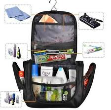 Black TOILETRY BAG Travel Organizer Dopp Kit Shaving Kit Hanging Durable Bag Men