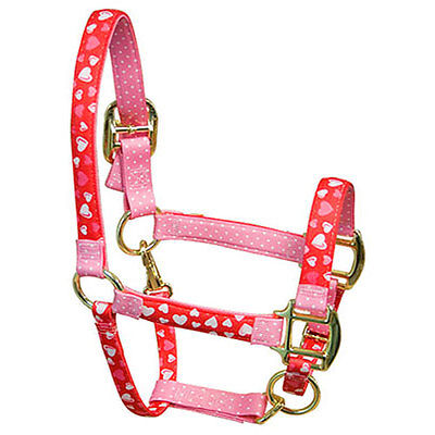Crazy Hearts w//Purple Polka Dots Accent Fashion Horse Halter