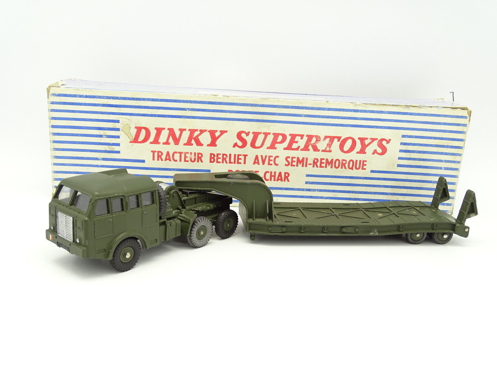 Dinky Toys France Militaire 1 43 - Berliet avec Semi Remorque Porte Char 890