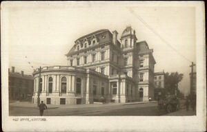 Hartford-CT-Post-Office-c1905-Real-Photo-Postcard