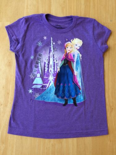Disney Store Princess Anna Queen Elsa  Short Sleeve T Shirt Girl 4 5//6 7//8 NEW