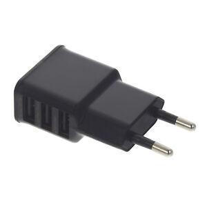 usb mehrfachstecker 3 fach mehrfach 3x anschluss ladeger t 2 a netzteil adapter ebay. Black Bedroom Furniture Sets. Home Design Ideas
