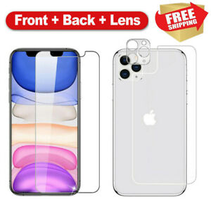 For-iPhone-11-Pro-Max-Front-Back-Camera-Lens-Tempered-Glass-Screen-Protector