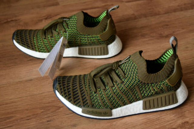 the best attitude 93bbf ded8e adidas NMD R1 STLT PK SNEAKERS Brown Green White Cq2389 Brown 42