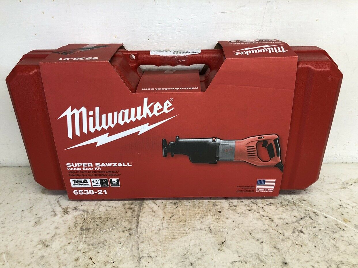 Milwaukee Reciprocating Saw Corded 13 Amp Orbital Super Sawzall Kit Power Tool