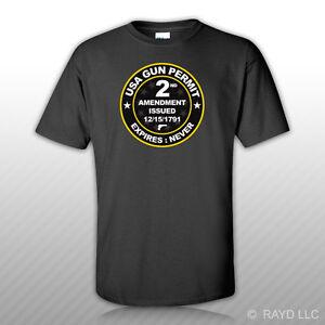 Black-USA-Gun-Permit-2nd-Amendment-T-Shirt-Tee-Shirt-Free-Sticker-2a-gun-rights