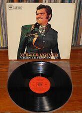 VICENTE FERNANDEZ Volver Volver 1972 LP Original Spain Latino Latin Ranchera
