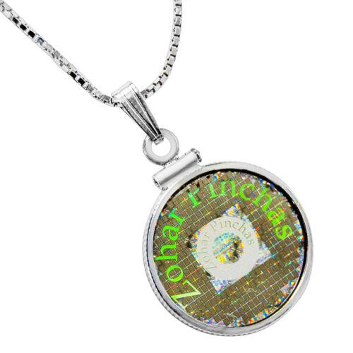 Details about Pendant Amulet Chain Silver 925 Jewelry Kabbalah Medallion  Zohar Pinhas Healing