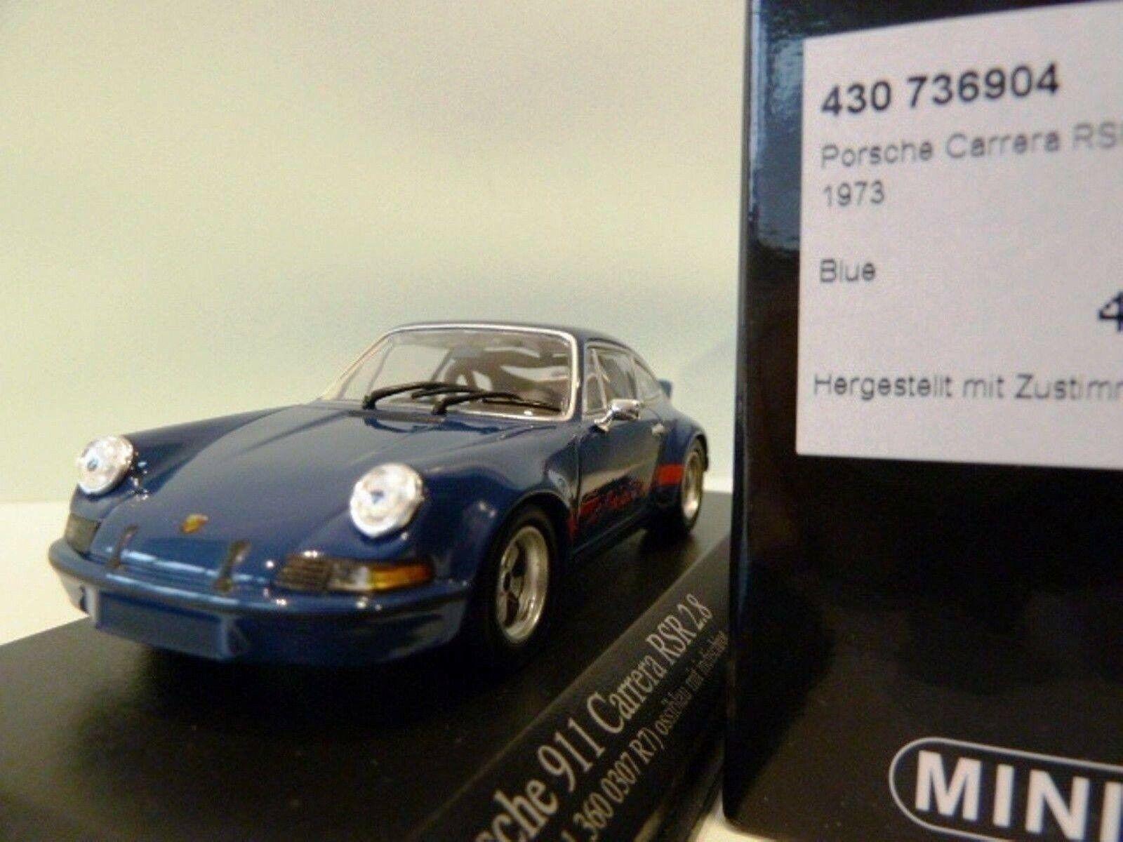 Wow extrêmement rare Porsche 911 RSR 2.8 Bleu Rouge 1973 1 43 Minichamps-SPARK-GT2