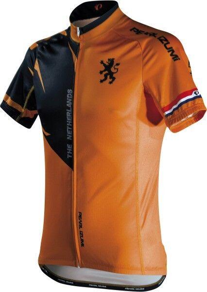 Pearl Izumi Elite LTD Jersey Netherland Bicycle manche courte Jersey Holland Orange