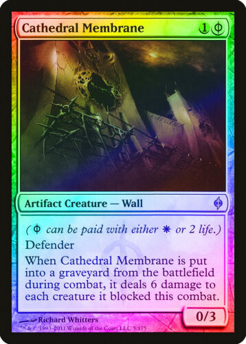 Cathedral Membrane FOIL New Phyrexia NM-M Artifact White Uncommon CARD ABUGames