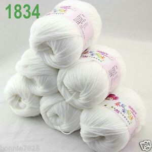 Sale-6-ballsx-50gr-DK-Baby-Soft-Cashmere-Silk-Wool-hand-knitting-Crochet-Yarn-34