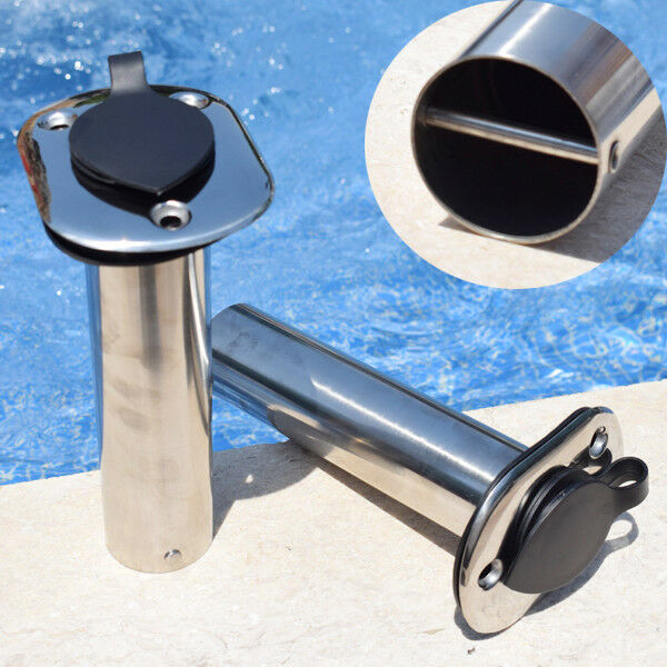 Cool 2X Stainless Steel Deck-Mount Adjustable Removable Fishing Rod Holder