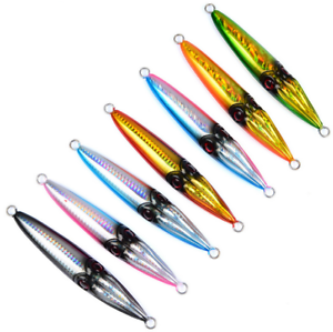 7Pcs Micro Jigs Butterfly Jigs Tuna Snapper Fishing Slow Pitch Lures 250g 17cm