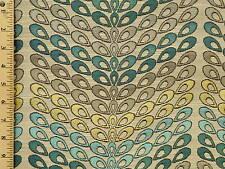 Woven Edra Celestial Modern Contemporary Peacock Geometric Upholstery Fabric