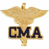 Cma Caduceus Lapel Pin Certified Medical Assistant Emblem Graduation Gold Plated