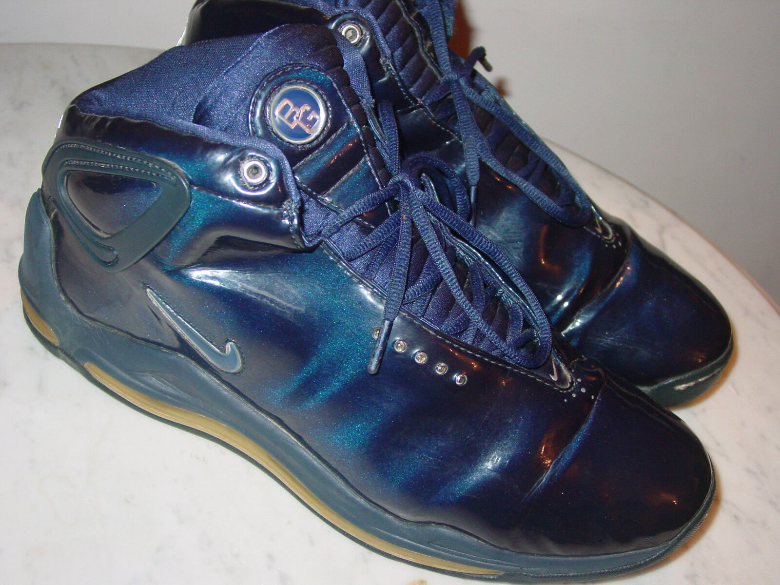 2002 Nike Air Max Shoes! Elite Battlegrounds Mid Navy/Silver Shoes! Max Size 14 Sold As Is! abd1bd