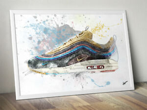 Details about Wotherspoon Nike Air Max 97 Trainer Sneaker Wall Art Print Poster