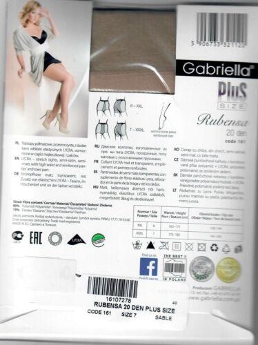 Lycra Feinstrumpfhose Gabriella Plus Size Übergröße 20 den Strumpfhose XXL,XXXL