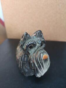 Scottie Dog Artessania Rinconada  Handcarved fine grain earthenware - ceramic