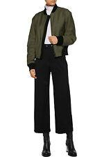 NWT $500 RAG & BONE Corey Black Stretch Wool Wide Leg Crop Trouser Pants - Sz 10
