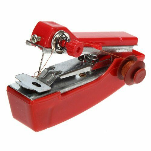 Portable Mini Sewing Machine Handheld Small Stitch Cordless with Thread Craft