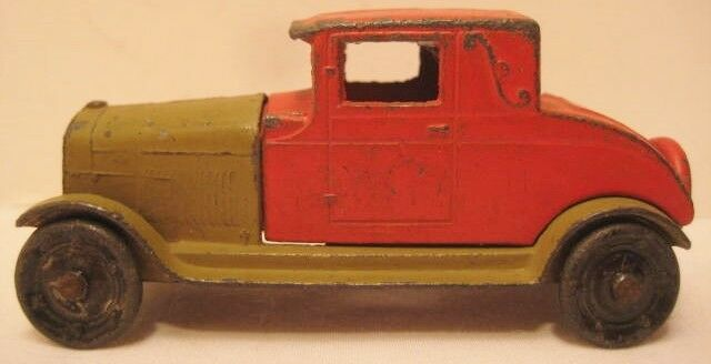 Unusual Antique Metal Metal Metal Tootsie Toy Car 3 1 8  Cadillac Coupe 1920s 840a14