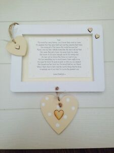 Shabby personalised Gift Chic Auntie Uncle Aunty Aunt Present Wall Hanging
