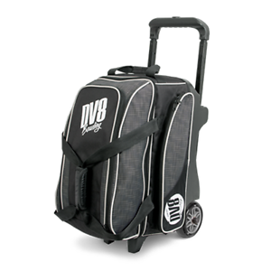 DV8 Circuit 2 Ball Deluxe Roller Bowling Bag with Urethane Wheels Grey