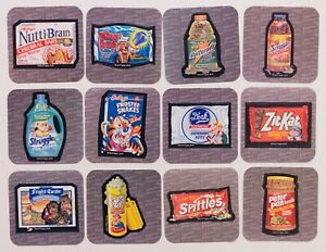 LOT (12) WACKY PACKAGES MINIS Stickers, Series 2, Nutti Brain, Frosted Snakes